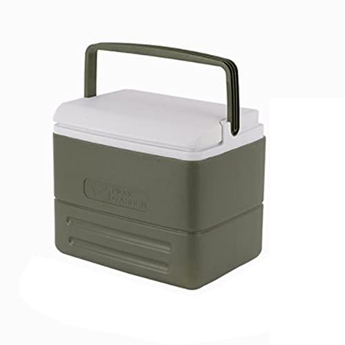 GoRIKI Nevera portátil de 8,5 litros, nevera portátil para mantener el calor, refrigeración, para coche, furgoneta, vehículo, barco, con ruedas, para camping, viajes, pesca (30 x 21 x 25 cm)