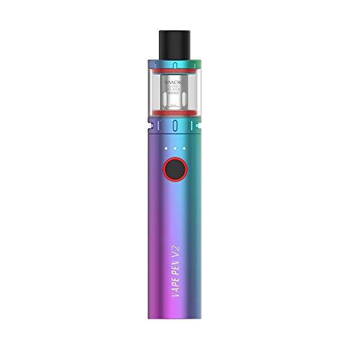 S-Mok VAPE PEN V2 Kit (7 colores) 60W 1600mAh Batería 2ml Tanque Mallado Bobinas de 0.15ohm, Kit de inicio Vaporizador Cigarrillo electrónico, Sin nicotina