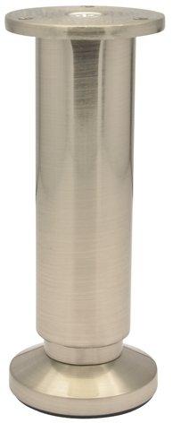 WAGNER Möbelbein/Möbelfuß - DESIGN - Edelstahl-Optik, nickel matt, höhenverstellbar 150-168 mm/Durchmesser 38/60 mm - 12038001