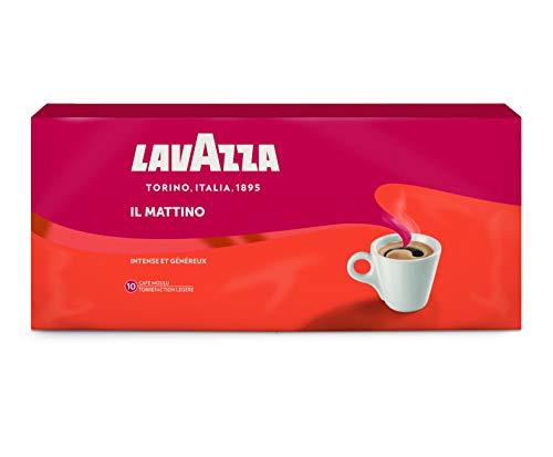 Lavazza Café Moulu Il Mattino, Espresso intense et velouté, Lot de 4 Paquets x 250 g [1kg]