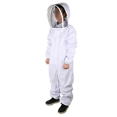 DGCUS Professional Cotton Full Body Beekeeping Suit with Self Supporting Veil Hood(For Person No Taller than 5' 9')