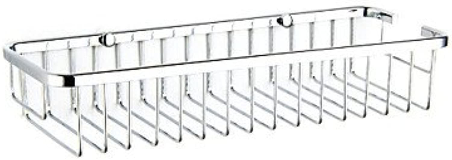WYMBS Contemporary Rectangle Chrome Finish Soap Basket