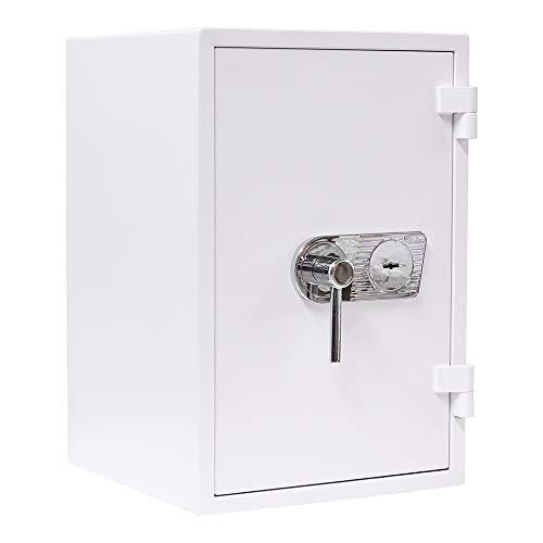 HomeDesign 114295 Atlas Fire Premium 65 Schlüsselschloss Tresor Möbeltresor Home Büro Safe Wertvoller Dokumente Schutz Cash Saftey Management EN1 DS-EN1-650W-EL