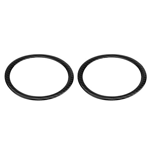 2pc Carbon Tür Lautsprecher Sound Ring Cover, Keenso Audio Loudspeaker Sticker Zierleisten(Tippe A)