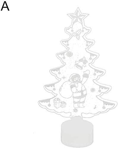ZBM-ZBM Led-nachtlampje, afneembare oplaadbare stroomvoorziening, volwassenen baby, bonte comic-kerstman kerstboom gedecoreerd kerstcadeau led-nachtlampje lichtsnoer