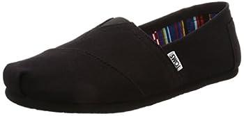 TOMS Women s Classic Alpargata Slip-On Shoe Black On Black Canvas 10 M