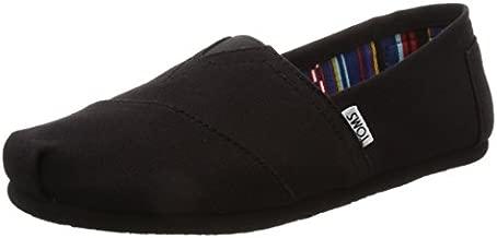 TOMS Women's Classic Alpargata Slip-On Shoe Black On Black Canvas 10 M