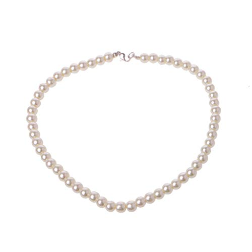 BINGBIAN Jewerly Elegant Ivory White Glass Imitation Freshwater Pearl Necklaces for Women