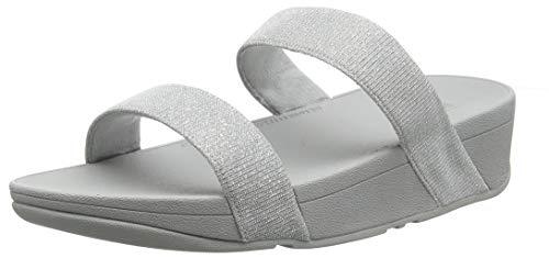 Fitflop Damen Lottie Glitzy Slide Sandalen, Silber (Silver 011), 36 EU