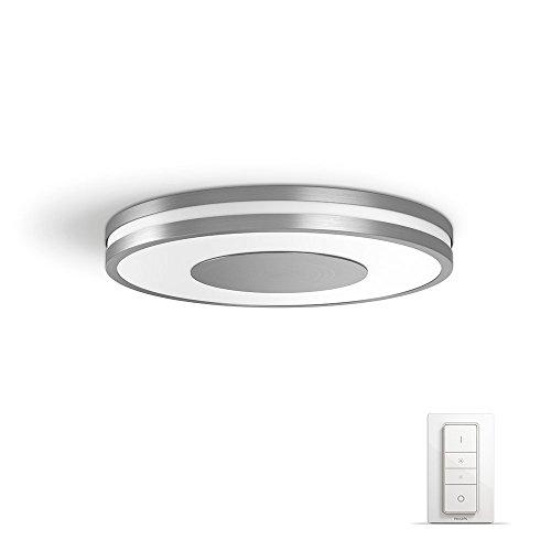 Philips Hue Led-plafondlamp Being incl. dimschakelaar, dimbaar, alle witschakeringen, bestuurbaar via app, aluminium, compatibel met Amazon Alexa (Echo, Echo Dot)