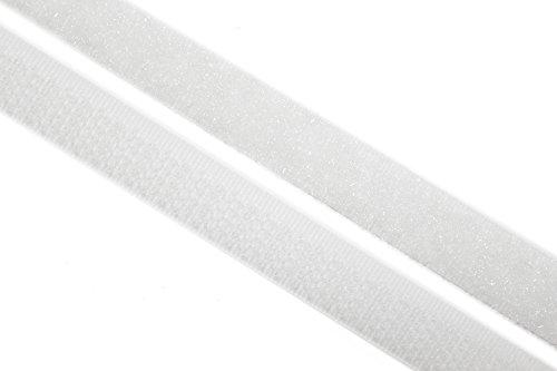 dalipo 17003 - Klettband zum annähen, 10mm, weiß