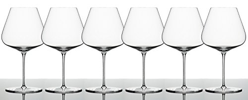 Zalto Denk'Art Burgundy Wine Glass - Luxury Stemware - Espeically for Pinot Noir, Nebbiolo, Barbera, Chardonnay and Grünen Veltliner - Brings Out Fruit and Sweeter Notes (6-Pack)