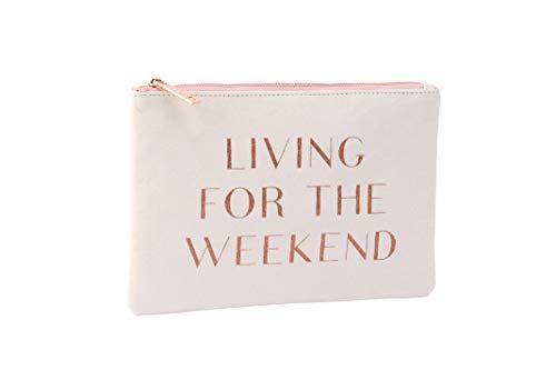 Champange Moments Wit 'Leven Voor Het Weekend' Tas - GB02265