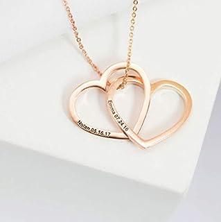 Collana d'amore personalizzata - collana cuore coppia