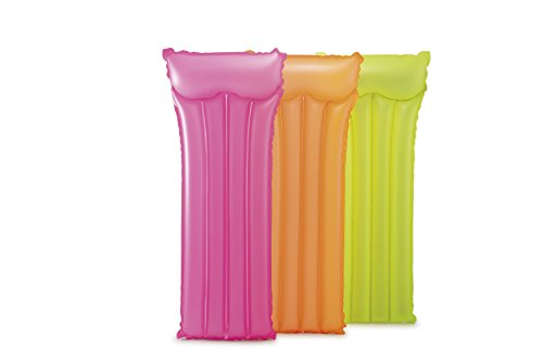Intex 59717 - Colchoneta (183 x 76 cm), Color Amarillo, Naranja y Rosa