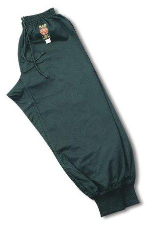 MAR Black Traditional Tai Chi Kung-Fu Trousers – Unisex Polycotton Medium-Weight Fabric 6/190 (NCAT-48)