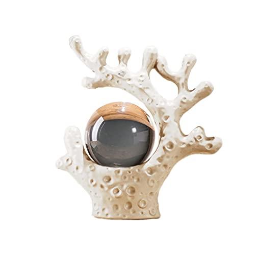 Bola Cristal Decoraciones de bola de cristal de coral creativo moderno Estudio para el hogar Luz de lujo Lujo Sala de estar Gabinete de vino de alta gama Decoraciones Bola de Vidrio ( Color : B )
