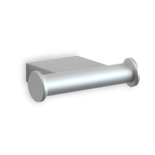 Tatay Colgador Doble de la Colección Ice, de Aluminio Mate, de diseño Moderno y Elegante. Sistema de fijación con Tornillos