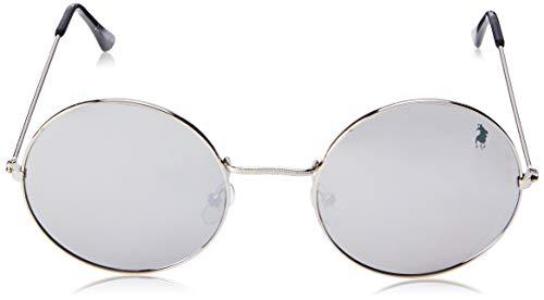 Óculos de Sol Polo London Club lente com Proteção UVA/UVB - Kit acompanha com estojo e flanela, Preto/prata com lente fume, único