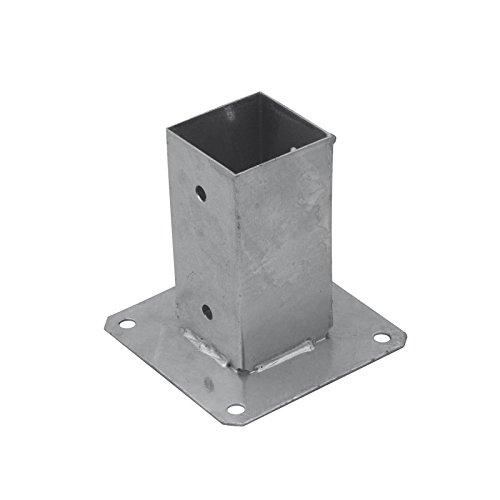 Aufschraubhülse Bodenhülse Pfostenträger Feuerverzinkt rechteckig – PSP 91x150x2,0