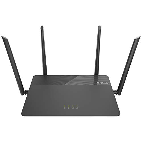 D-Link WiFi Smart Router AC1900 Wireless Dual Band MU-MIMO Powerful Dual Core Processor Fast Gaming & 4K Streaming Reliable Coverage (DIR-878), Black