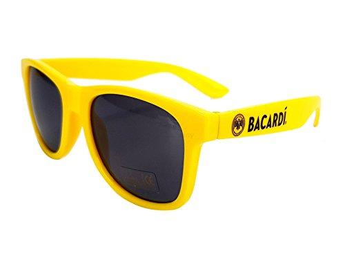 Bacardi Sonnenbrille Nerd Party Brille gelb mit UV 400 Schutz
