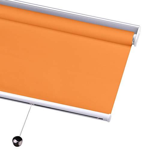 WUFENG-Thermo Rollo Verdunklungsrollo Wasserdichtes Gewebe Wärmeisoliert Badezimmer Blackout Shades zum Fenster Innen Verwenden Sie Mit Schnurlos Federsystem Raumverdunkelung, Anpassbare