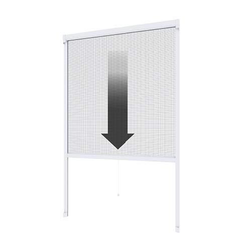 pro insect Insektenschutz-Rollo PRO für Fenster 130x160cm, alu-eloxiert/silber