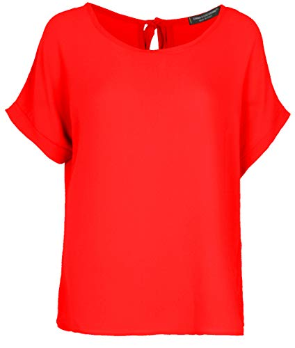 Emma & Giovanni - T-Shirt/Oberteile Oversize mit Kurzarm Segelstoffe (Made In Italy) - Damen  Rot, 42