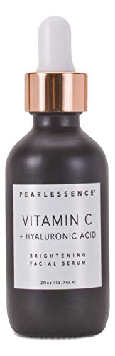 Pearlessence Brightening Facial Serum, Vitamin C and Hyaluronic Acid, 2 fl oz