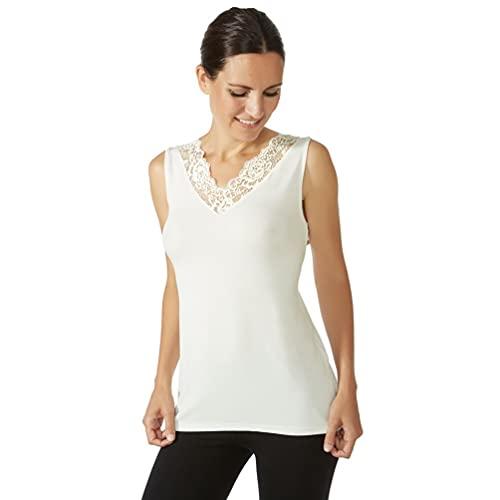 JANIRA Camiseta de Mujer Encaje Greta Modal IM CP - Negro, M