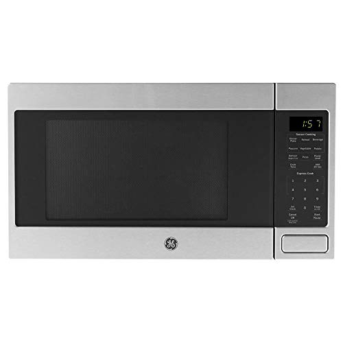 GE 1150 Watt Countertop Microwave Oven, Stainless Steel (Renewed)