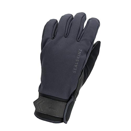 SealSkinz Waterproof All Weather Insulated Glove, Grey/Black, L