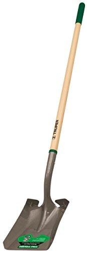 Truper 31188 Tru Tough 48-Inch Square Point Shovel, Long Handle, 6-Inch Grip