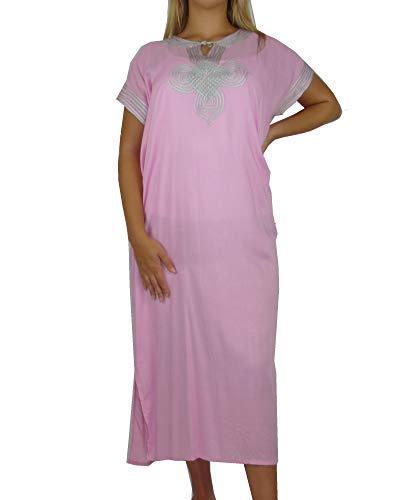 Marrakech Accessoires Orientalisches Kleid Kaftan Tunikakleid Strandkleid Sommerkleid Maxi - 905762-0018, Grösse:M