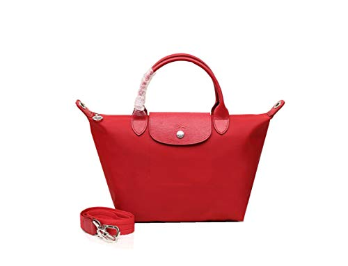 LGP LongchampTasche Damen Handtasche Le Pliage klein Tote Bag Neu Faltbare Schultertasche Einkaufstüten 1512 (Groß Rot)