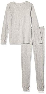 Amazon Essentials Women's Thermal Long Underwear Set, Heather Grey, Large