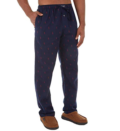 Polo Ralph Lauren Flannel Pony Player Pajama Pant (P006HR) S/Cruise Navy/Red Pony