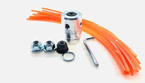 flexparts - Cabezal universal de aluminio para desbrozadora de césped, bobina de hilo de nailon para todo tipo de desbrozadoras de las marcas Stihl Husqvarna y Dolmar con 20 hilos cuadrados