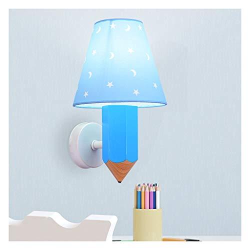 QQB Fashion-1 Wandleuchte, LED-Kinderwandleuchte for Jungen und Mädchen-Schlafzimmer-Lampe Kreative Massivholz-Karikatur Clothing Store LED Wandleuchte Modern