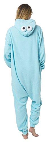 Katara-(10+ Modelos) Kigurumi Pijamas Disfraz de Animal Halloween Carnaval, Adultos, Color monstruo de las galletas, Talla 145-155cm (1744)