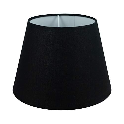 Wogati Premium Lampenschirm 25 cm x 16,5 cm x 18 cm/Tischleuchte/Stehlampe/Schwarz/Stoff / E27/ E14