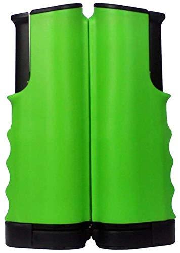 FANPING Instant Retractable Tischtennis Netzpfosten Set Einstellbare 60inch Mesh-Rack-Tragbare Ping Pong Zubehör Teleskop Clip-on Schellen (Color : Green)