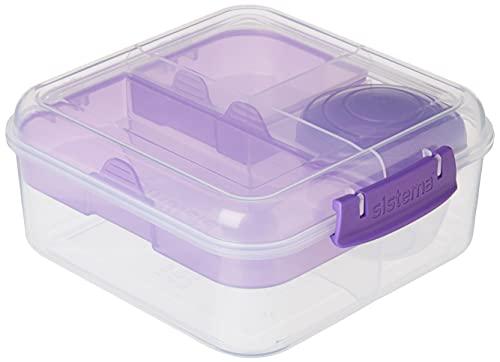 Sistema Bento Box TO GO | Lunch Box with Yoghurt/Fruit Pot | 1.25 L |...