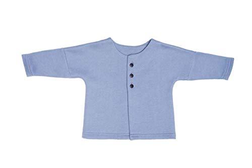 WOOLY ORGANIC - Veste Kimono BÉBÉ Bleu (56/62)