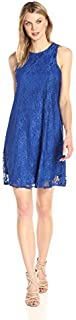 Sharagano Women's Sleeveless Lace Trap Dress