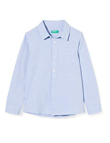 United Colors of Benetton Jungen Camicia Freizeithemd, Mehrfarbig (Celeste 901), 170 (Herstellergröße: KL)