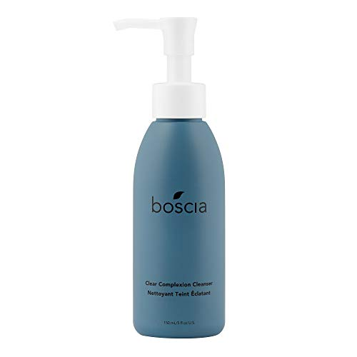 boscia Clear Complexion Cleanser - Vegan, Cruelty-Free, Natural and Clean Skincare | A daily Gentle Exfoliating Cleansing Gel Face Wash, 5 fl oz