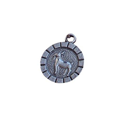 Zinngeschenke Steinbock 22.12.-20.01. Sternzeichen, Tierkreiszeichen, Horoskop mit Schlüsselanhänger und Ihrer Wunschgravur auf der Rückseite (D) 2,3 cm