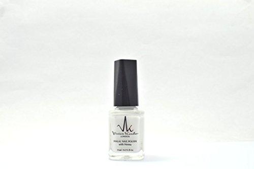 Vivien Kondor Henna Halal Permeable Nail Polish Ha04 Pure White 11 ml